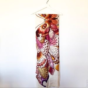 Beautiful Handpainted Butterfly/Moth Scarf